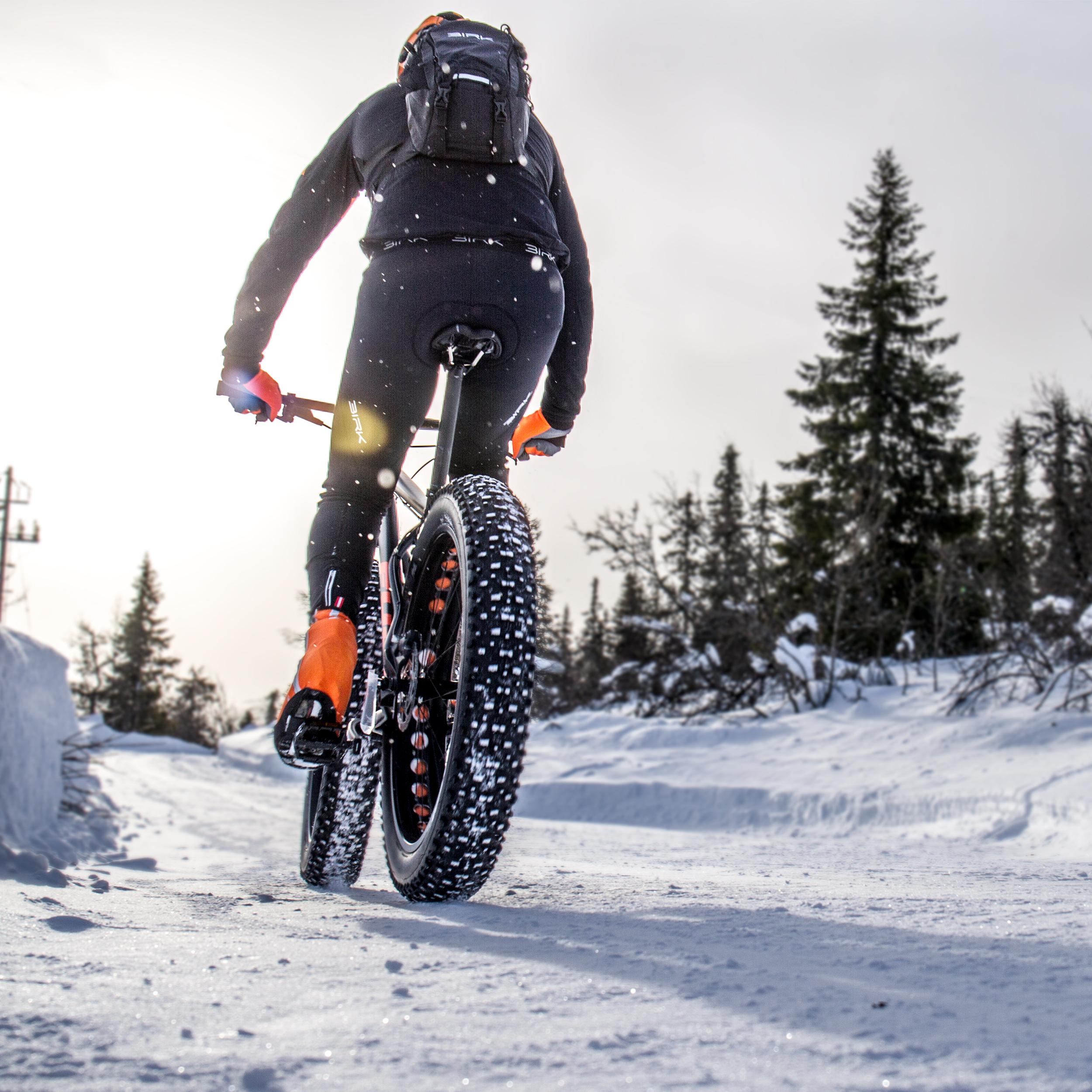 Vintersykling - Bruk av sykkel på sti om vinteren